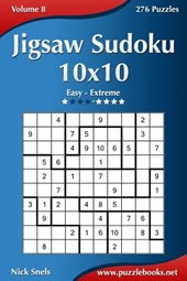 Jigsaw Sudoku 10x10 - Easy to Extreme - Volume 8 - 276 Puzzles