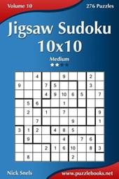 Jigsaw Sudoku 10x10 - Medium - Volume 10 - 276 Puzzles