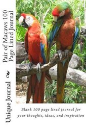 Pair of Macaws 100 Page Lined Journal