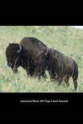 American Bison 100 Page Lined Journal