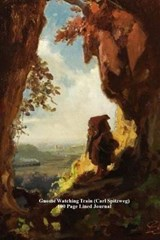 Gnome Watching Train (Carl Spitzweg) 100 Page Lined Journal | Unique Journal |