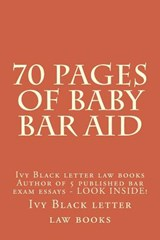 70 Pages of Baby Bar Aid | Ivy Black Letter Law Books |