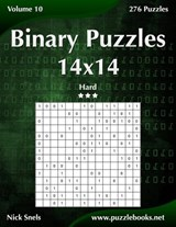 Binary Puzzles 14x14 - Hard - Volume 10 - 276 Puzzles | Nick Snels |