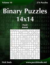 Binary Puzzles 14x14 - Hard - Volume 10 - 276 Puzzles