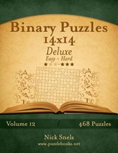 Binary Puzzles 14x14 Deluxe - Easy to Hard - Volume 12 - 468 Puzzles