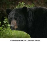 Curious Black Bear 100 Page Lined Journal | Unique Journal |