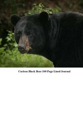 Curious Black Bear 100 Page Lined Journal