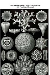 Plate 9 Hexacoralla, Coral (Ernst Haeckel) 200 Page Lined Journal | Jmm Shepperd |