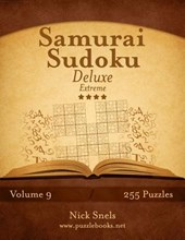 Samurai Sudoku Deluxe - Extreme - Volume 9 - 255 Logic Puzzles