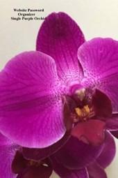 Website Password Organizer Single Purple Orchid