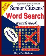 Senior Citizens' Word Search Puzzle Book | Rays Publishers |
