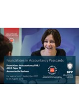 FIA Foundations of Accountant in Business FAB (ACCA F1) | Bpp Learning Media |