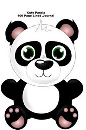 Cute Panda 100 Page Lined Journal