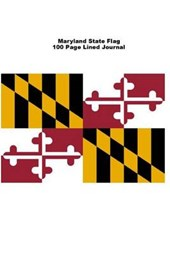 Maryland State Flag 100 Page Lined Journal