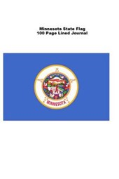 Minnesota State Flag 100 Page Lined Journal