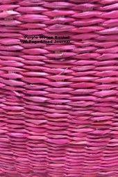 Purple Woven Basket 100 Page Lined Journal