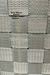 Grey Woven Basket 100 Page Lined Journal
