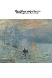 (Monet) Impression Sunrise 100 Page Lined Journal
