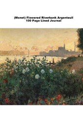 (Monet) Flowered Riverbank Argenteuil 100 Page Lined Journal