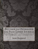 Pattern 10 Oversized 200 Page Lined Journal | Jmm Shepperd |