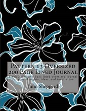 Pattern 13 Oversized 200 Page Lined Journal