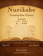 Nurikabe Gemischte Gitter Luxus - Leicht Bis Schwer - Band 6 - 474 Ratsel