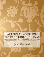Pattern 21 Oversized 200 Page Lined Journal