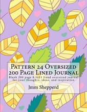 Pattern 24 Oversized 200 Page Lined Journal