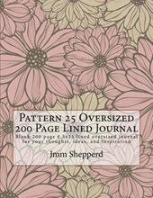 Pattern 25 Oversized 200 Page Lined Journal