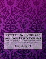 Pattern 26 Oversized 200 Page Lined Journal | Jmm Shepperd |