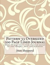 Pattern 33 Oversized 200 Page Lined Journal