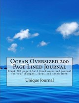 Ocean Oversized 200 Page Lined Journal | Unique Journal |