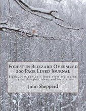 Forest in Blizzard Oversized 200 Page Lined Journal
