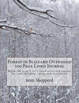 Forest in Blizzard Oversized 200 Page Lined Journal | Jmm Shepperd |