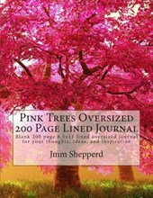 Pink Trees Oversized 200 Page Lined Journal
