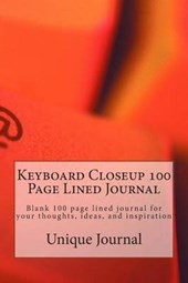 Keyboard Closeup 100 Page Lined Journal