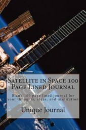 Satellite in Space 100 Page Lined Journal