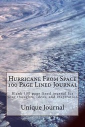 Hurricane from Space 100 Page Lined Journal