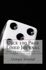 Dice 100 Page Lined Journal | Unique Journal |