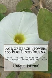Pair of Beach Flowers 100 Page Lined Journal