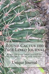 Round Cactus 100 Page Lined Journal
