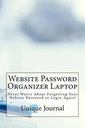Website Password Organizer Laptop