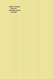 Yellow Striped Pattern 100 Page Lined Journal