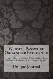 Website Password Organizer Pattern
