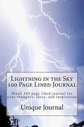 Lightning in the Sky 100 Page Lined Journal