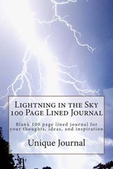 Lightning in the Sky 100 Page Lined Journal | Unique Journal |