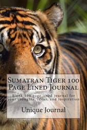 Sumatran Tiger 100 Page Lined Journal