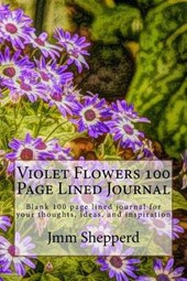 Violet Flowers 100 Page Lined Journal
