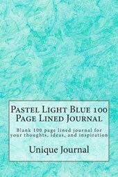 Pastel Light Blue 100 Page Lined Journal