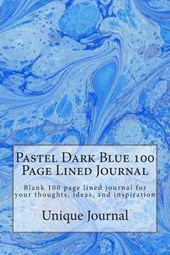 Pastel Dark Blue 100 Page Lined Journal
